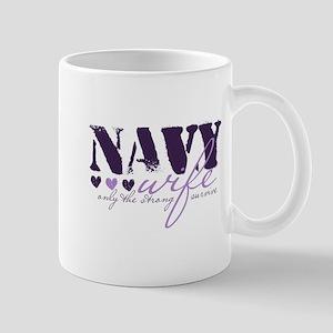 Navy Wife ... [purple] Mug